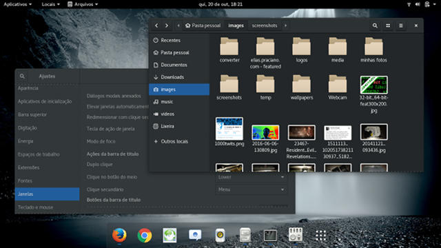 screenshot of gnome 3 on Wayland