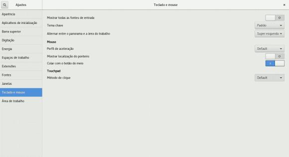 Como ajustar o touchpad no GNOME