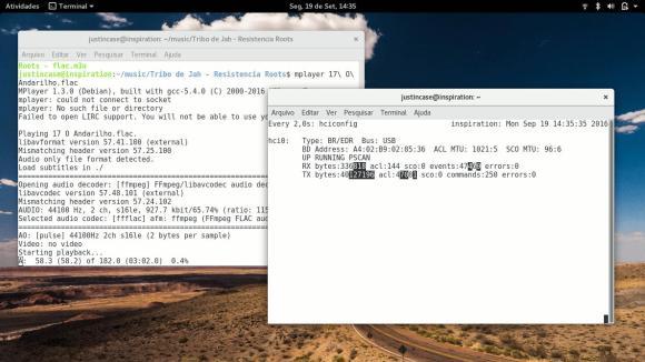 bluetooth monitoring audio stream on Linux - Monitoramento do stream de audio bluetooth no Linux