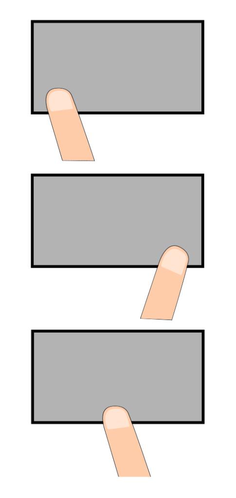 areas de toque no touchpad