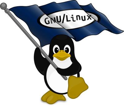 gnu linux tux flag