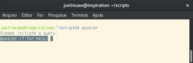 googler cli interface