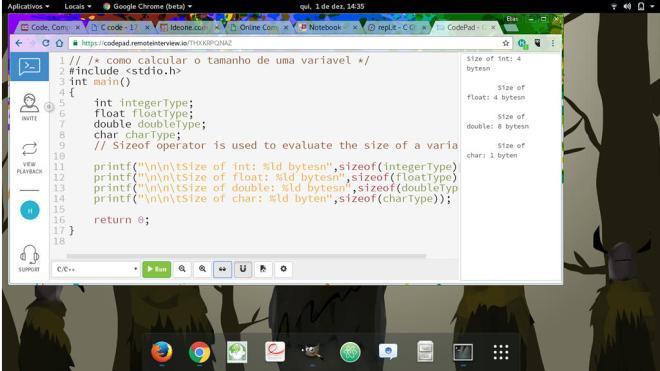 captura de tela remoteinterview