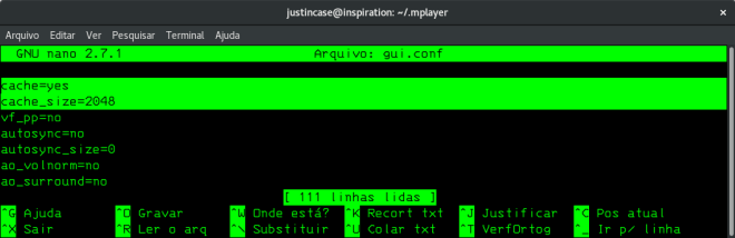 mplayer configuration cache file