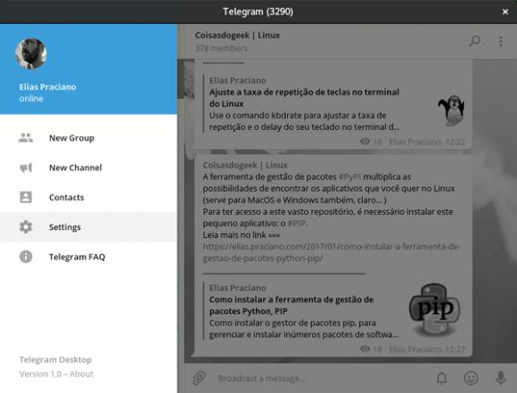 telegram settings configuration