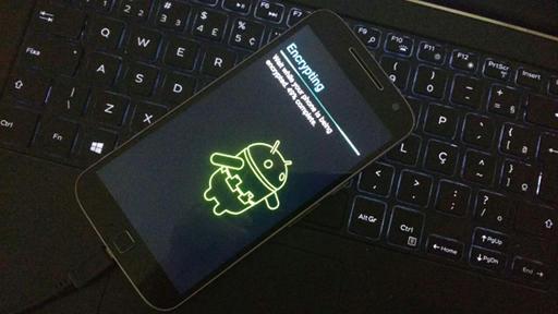 android criptografia tela de andamento