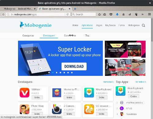captura de tela web mobogenie