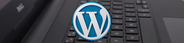 wordpress logo on keyboard