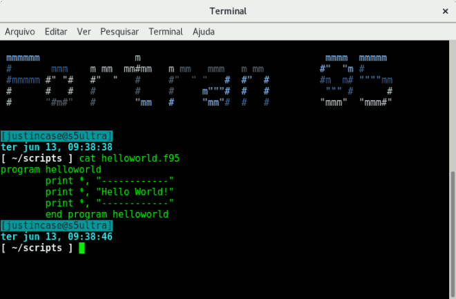 fortran hello world