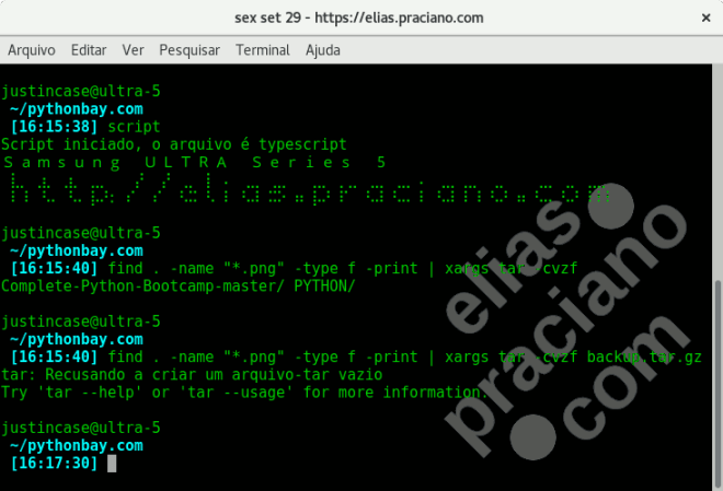 linux script save