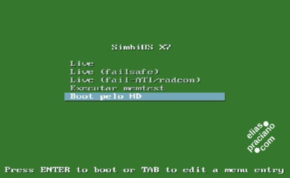 simbios linux boot menu