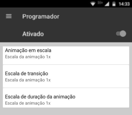 android opções desenvolvedor