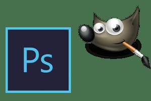photoshop and gimp logos