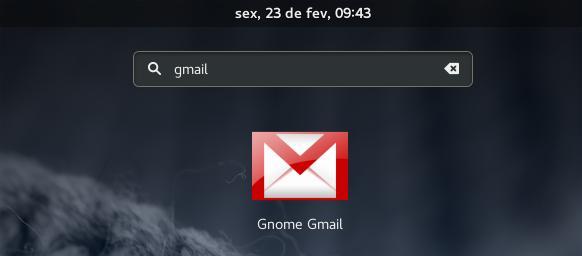 Dash gnome gmail