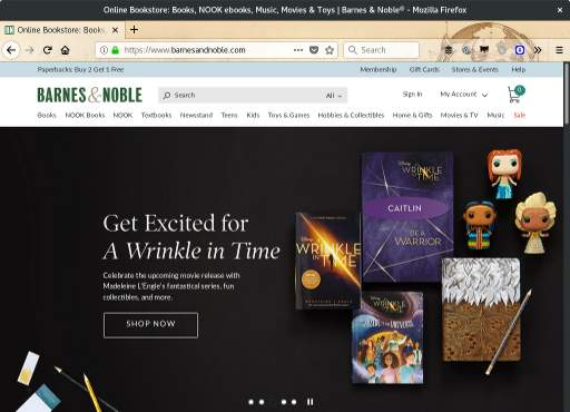 Barnes and Nobles site