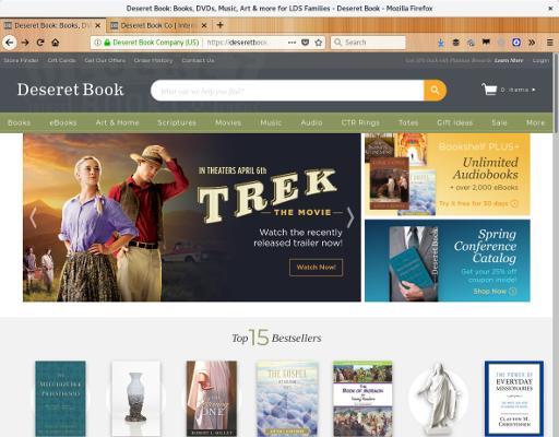 Imagem do site Deseret books
