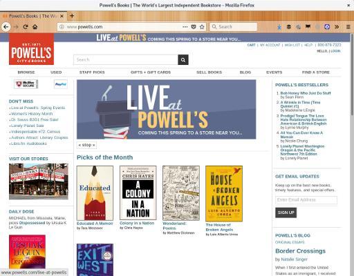 Imagem do site Powells bookstore