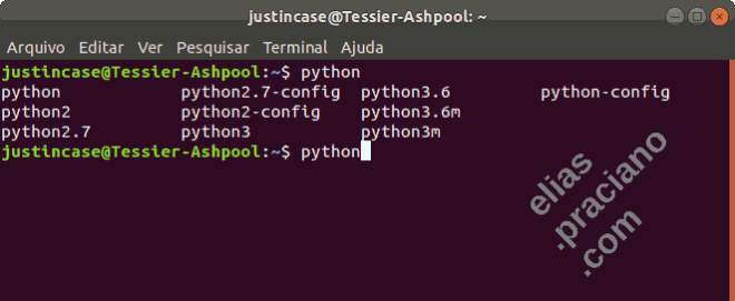 interpretadores Python no Ubuntu