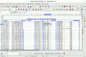 Como extrair dados exif de arquivos de imagens para montar uma base de dados ou planilha.