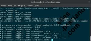 Instalação do CodeLobster via apt, na linha de comando