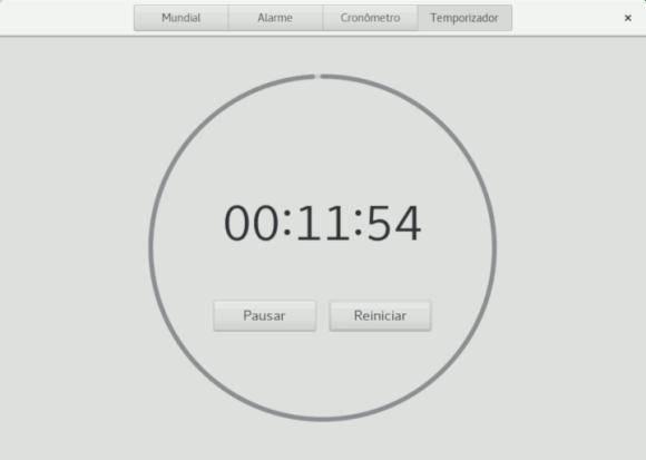 gnome-watch temporizador em andamento