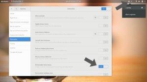 painel de controle de ajustes de extensões do GNOME