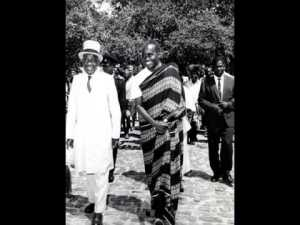President Kenneth Kaunda and King Mwanawina III