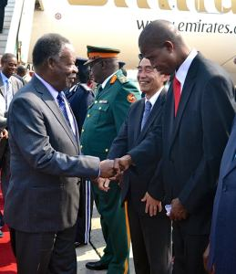Michael Sata with Edgar Lungu