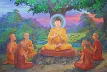 בודהא המואר אל מול תלמידיו החשוכים