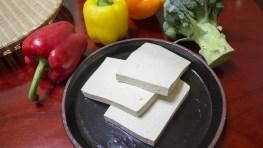 albóndigas de tofu y espinacas gato