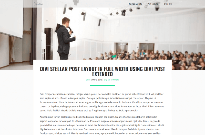 Divi Post Extended Stellar Layout