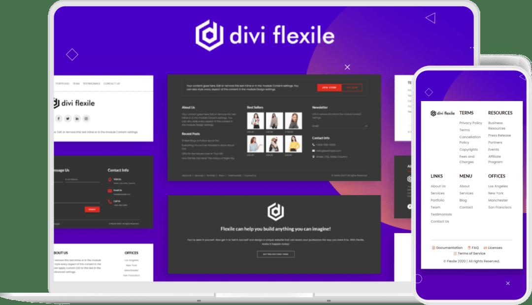 Divi-Flexile-Footers-Image