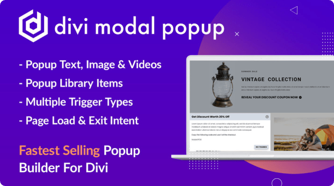 Divi Modal Popup an alternative to Divi Overlays