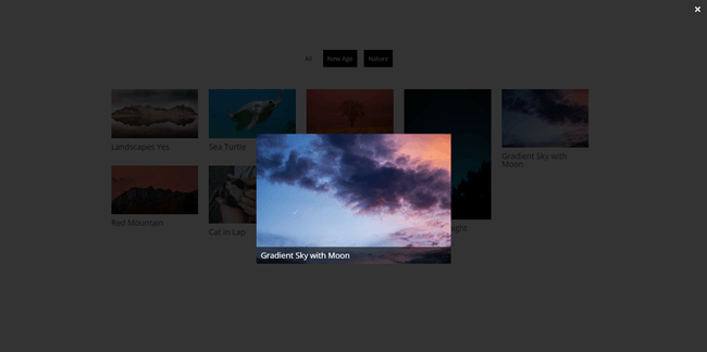 Lightbox with disabled navigation