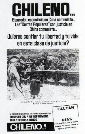 La histórica campaña del terror de la autoritaria y conservadora derecha chilena