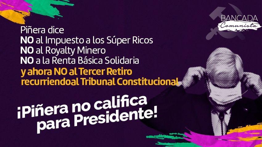 Políticos de oposición  anuncian una posible Acusación Constitucional por decisión de Piñera de ir al Tribunal Constitucional por Tercer Retiro
