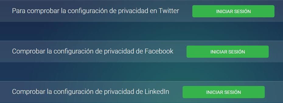 Configuracion privacidad redes sociales