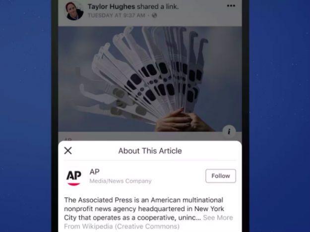 Facebook testa botão que explica origem das empresas de mídia