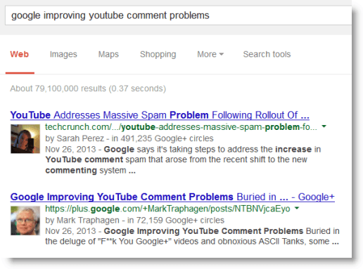 Google Authorship Nostalgia
