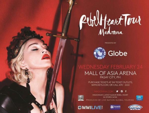 Madonna Valentine concert in Manila 2016