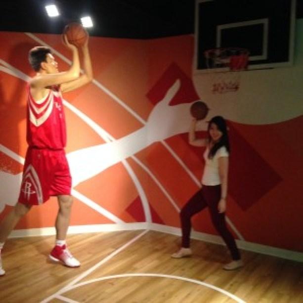 Me shooting hoops with Yao Ming! ;)