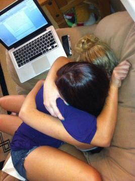 The day my sister got back from the hospital after a suicide attempt. I didnt let go for about an hour