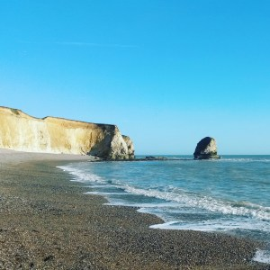 Les falaises sur Isle of Wight