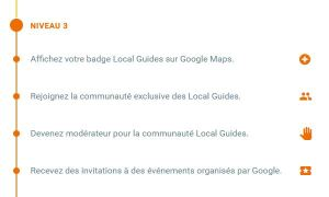 Local Guide Google Niveau 3