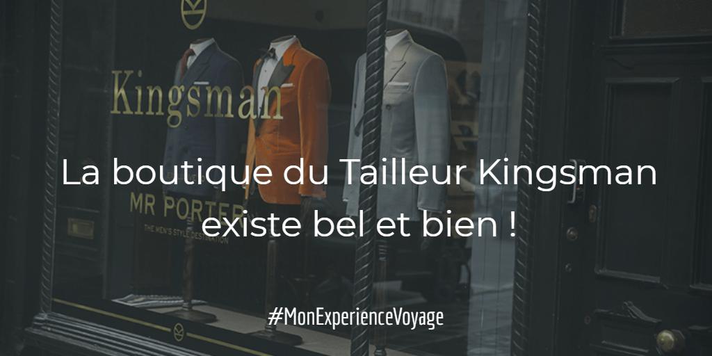 La boutique du Tailleur, lieu de rendez-vous des espions Kingsman, existe bel et bien !