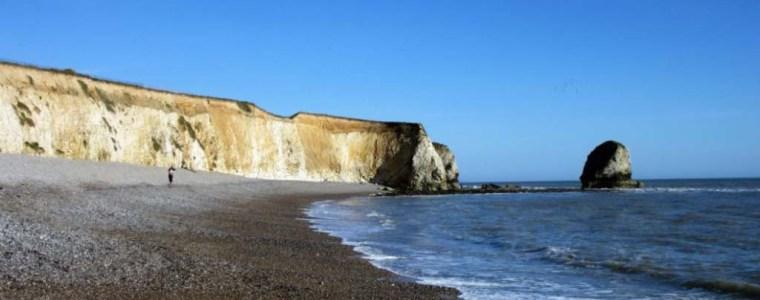 Eli in England - Plage de l'Ile de Wight en Angleterre - Crédits : English Language Immersion
