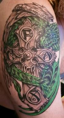 Fred's Tattoo for his Son Cedric