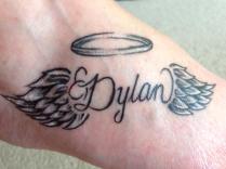 Sharon Barkworth-Szabo ink for Her son Dylan