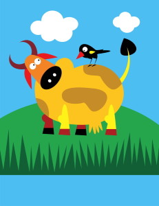 Bird and cow