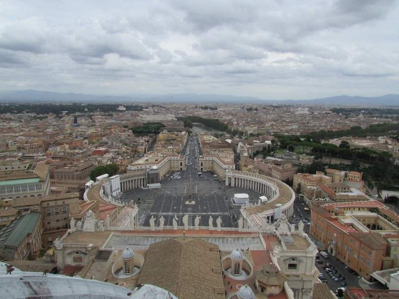 St Peter's Basilica_view from above